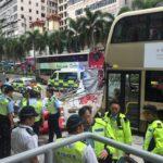 香港・尖沙咀(チムサーチョイ)でバス事故現場に遭遇! @MTR尖沙咀駅・A1出口付近
