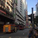 香港の街角 その2 -火災報知器鳴ってもスルーな人たち(笑)ー @湾仔(ワンチャイ)